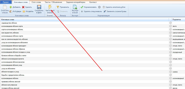 МегаЛемма программа для семантики сайта