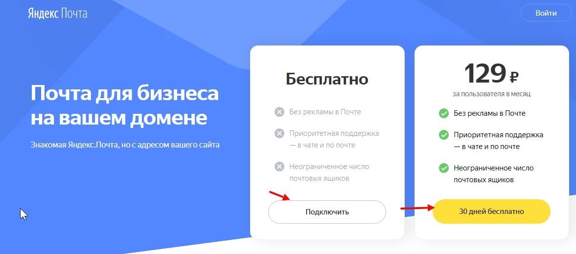 Как создать Яндекс почту для бизнеса