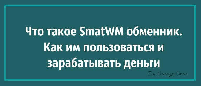 Что такое SmatWM обменник. Как им пользоваться и зарабатывать деньги