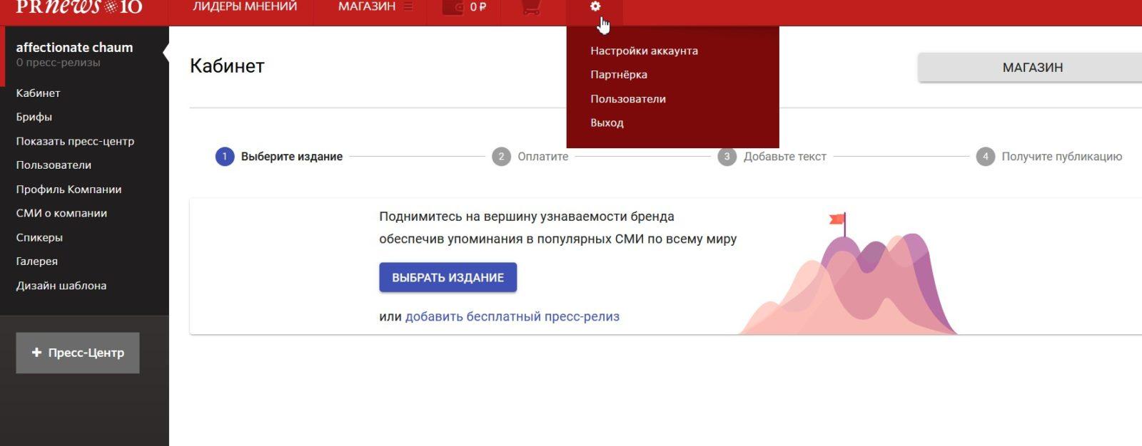 личный кабинет Prnews.io -3