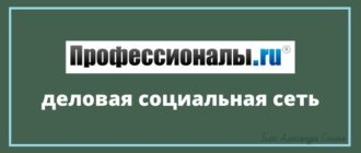 Профессионалы ру – деловая социальная сеть